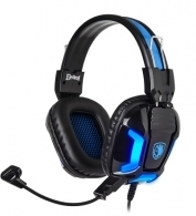 SADES Gaming Headset Element SA-702-BL, blue LED, 3.5mm, 40mm ακουστικά