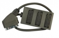 OEM CR-313 SCART SWITCH 3 FEMALE TO 1 MALE