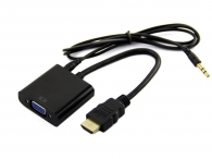 Adapter OEM HDMI to VGA (HDMI-VGA BL) με ήχο