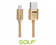 GOLF GC-10i-3-GD Cable USB v2.0 to Lightning Braided 3m, Gold