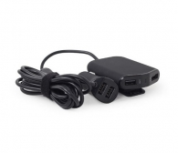 ENERGENIE EG-4U-CAR-01 4-PORT FRONT AND BACK SEAT CAR CHARGER 9,6A BLACK