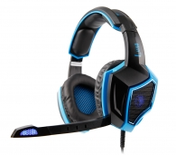 SADES SA-968 Gaming headset USB - 7.1CH (Luna), 40mm ακουστικά