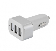 LAMTECH LAM063050 3 USB PORTS CAR CHARGER 2,1A SILVER