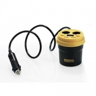 Car Charger Remax 3.1A USBx2 Black CR-2XP