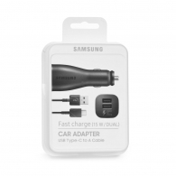 SAMSUNG EP-LN920CBE Car charger 2A (dual port) +Type C Καλώδιο (Blister)